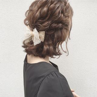 ナチュラル 大人かわいい 結婚式 ヘアアレンジ ヘアスタイルや髪型の写真・画像
