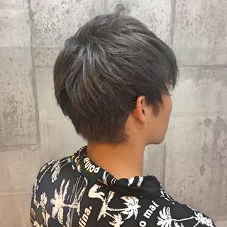 グレージュ ショート 外国人風カラー アッシュグレージュ ヘアスタイルや髪型の写真・画像