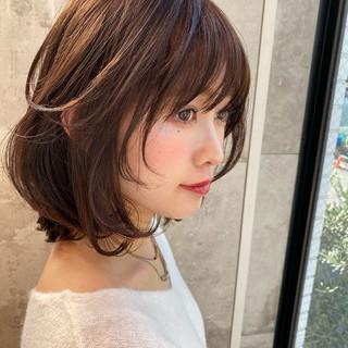 デジタルパーマ 大人かわいい ショートボブ ミニボブ ヘアスタイルや髪型の写真・画像