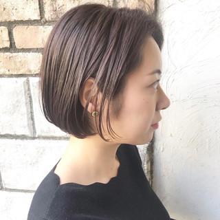 ミニボブ ショートヘア コンサバ ショートボブ ヘアスタイルや髪型の写真・画像