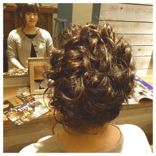 ヘアアレンジ ねじり 編み込み アップスタイル ヘアスタイルや髪型の写真・画像