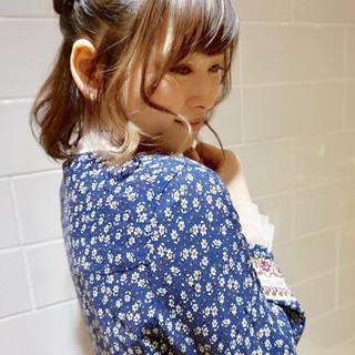 ヘアアレンジ デート ボブ 春 ヘアスタイルや髪型の写真・画像
