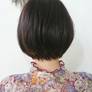 ショートヘア 前髪あり シースルーバング ショート ヘアスタイルや髪型の写真・画像