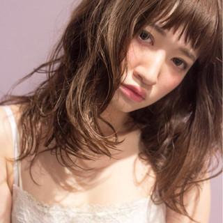 ガーリー パーマ 外国人風 ゆるふわ ヘアスタイルや髪型の写真・画像