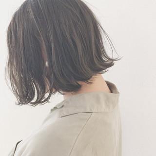 デート 切りっぱなし 黒髪 外国人風カラー ヘアスタイルや髪型の写真・画像
