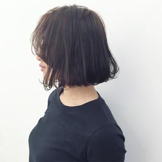 ストリート ボブ 暗髪 アッシュ ヘアスタイルや髪型の写真・画像