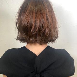 切りっぱなしボブ ミニボブ イルミナカラー ナチュラル ヘアスタイルや髪型の写真・画像