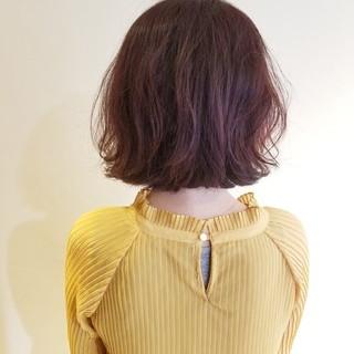 大人ミディアム フェミニン ボブ 大人カジュアル ヘアスタイルや髪型の写真・画像