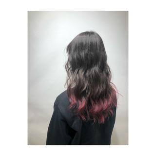 セミロング ラベンダーピンク ピンクバイオレット フェミニン ヘアスタイルや髪型の写真・画像 ヘアスタイルや髪型の写真・画像