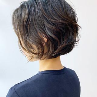 ボブ パーマ  パーマ ヘアスタイルや髪型の写真・画像