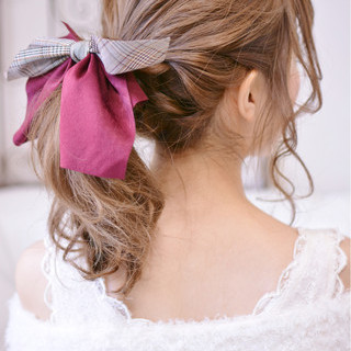 かわいい 冬 セミロング クリスマス ヘアスタイルや髪型の写真・画像 ヘアスタイルや髪型の写真・画像