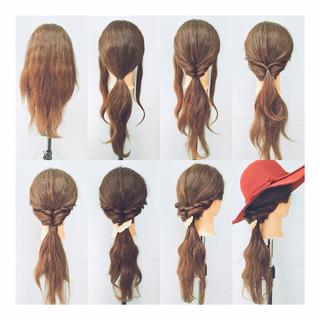 簡単ヘアアレンジ ショート ヘアアレンジ ねじり ヘアスタイルや髪型の写真・画像