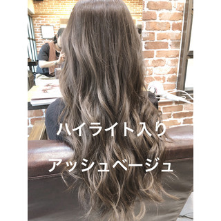 パーマ ロング アッシュベージュ デジタルパーマ ヘアスタイルや髪型の写真・画像 ヘアスタイルや髪型の写真・画像