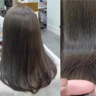 オフィス デート セミロング ナチュラル ヘアスタイルや髪型の写真・画像