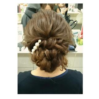 シニヨン フェミニン ヘアアレンジ ロング ヘアスタイルや髪型の写真・画像 ヘアスタイルや髪型の写真・画像