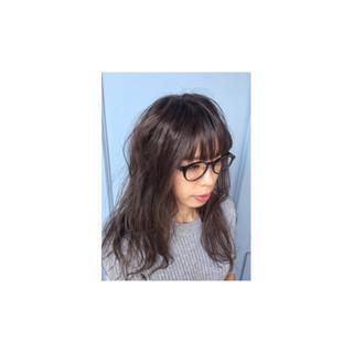 暗髪 ナチュラル アッシュ 外国人風 ヘアスタイルや髪型の写真・画像