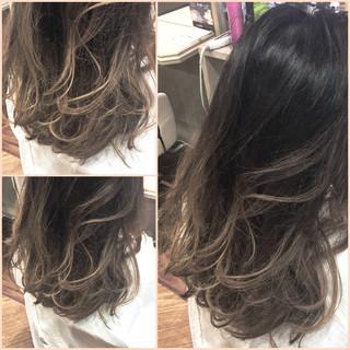 暗髪 外国人風 グラデーションカラー ロング ヘアスタイルや髪型の写真・画像