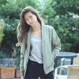 外国人風 大人女子 かっこいい ハイライト ヘアスタイルや髪型の写真・画像