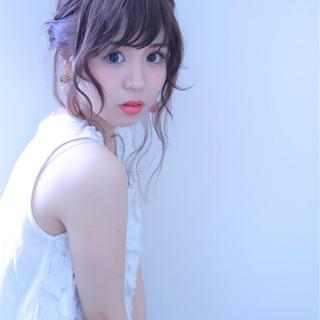 ヘアアレンジ お団子 女子会 ロング ヘアスタイルや髪型の写真・画像