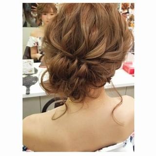 ヘアアレンジ 結婚式 謝恩会 ナチュラル ヘアスタイルや髪型の写真・画像