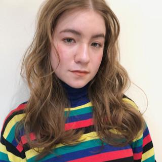 セミロング 大人かわいい アンニュイほつれヘア ガーリー ヘアスタイルや髪型の写真・画像
