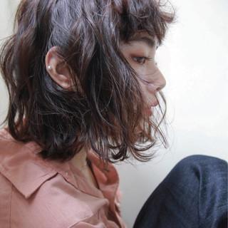色気 ボブ パーマ ストリート ヘアスタイルや髪型の写真・画像