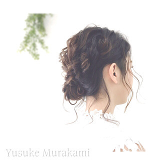 外国人風 結婚式 メッシーバン 二次会 ヘアスタイルや髪型の写真・画像