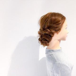 エレガント 結婚式 簡単ヘアアレンジ デート ヘアスタイルや髪型の写真・画像