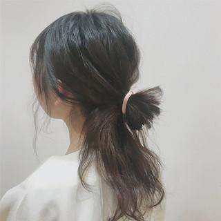 ゆるふわ 波ウェーブ ロング 簡単ヘアアレンジ ヘアスタイルや髪型の写真・画像