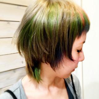 外国人風 ショート アッシュ モード ヘアスタイルや髪型の写真・画像 ヘアスタイルや髪型の写真・画像