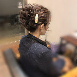 アップスタイル 結婚式 アップ フェミニン ヘアスタイルや髪型の写真・画像