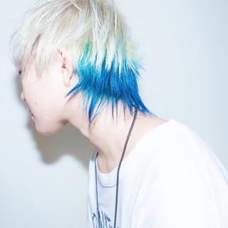 ブリーチオンカラー ショート ダブルブリーチ ホワイトブリーチ ヘアスタイルや髪型の写真・画像
