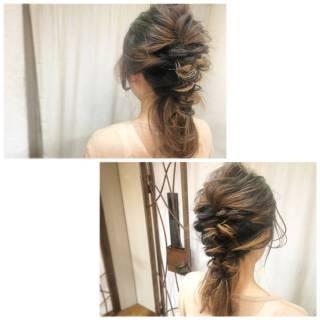 簡単ヘアアレンジ ヘアアレンジ インナーカラー ショート ヘアスタイルや髪型の写真・画像