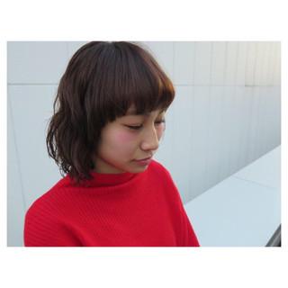 パーマ ボブ ニュアンス ストリート ヘアスタイルや髪型の写真・画像