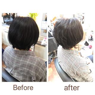 ショート ショートヘア フェミニン ダメージレス ヘアスタイルや髪型の写真・画像