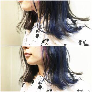 ボブ リラックス ブルーアッシュ 透明感 ヘアスタイルや髪型の写真・画像