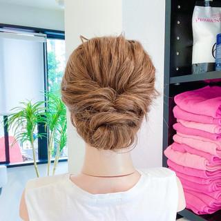 ロング ヘアセット くるりんぱ フェミニン ヘアスタイルや髪型の写真・画像 | 美容師HIRO/Amoute代表 / Amoute/アムティ