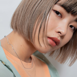 ブリーチ必須 ショートボブ ナチュラル 3Dハイライト ヘアスタイルや髪型の写真・画像
