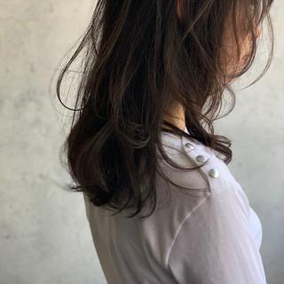 レイヤー セミロング ウルフカット ニュアンスウルフ ヘアスタイルや髪型の写真・画像