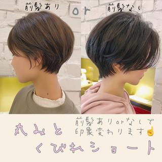 ナチュラル ショート ショートヘア 丸みショート ヘアスタイルや髪型の写真・画像