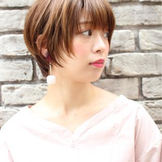 ショートボブ 小顔 似合わせ ショート ヘアスタイルや髪型の写真・画像