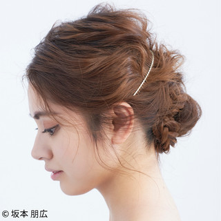 シニヨン エレガント ヘアアレンジ 上品 ヘアスタイルや髪型の写真・画像