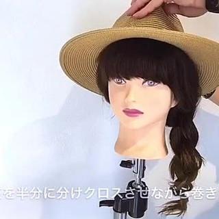セミロング ナチュラル 夏 デート ヘアスタイルや髪型の写真・画像