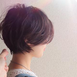 ショート ベリーショート ショートボブ ナチュラル ヘアスタイルや髪型の写真・画像