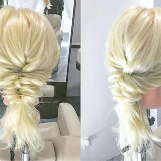 簡単ヘアアレンジ 簡単 くるりんぱ エレガント ヘアスタイルや髪型の写真・画像