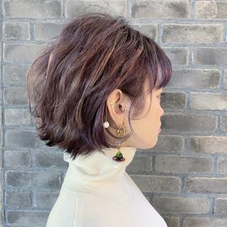 ストリート ボブ 大人ショート ブリーチ ヘアスタイルや髪型の写真・画像