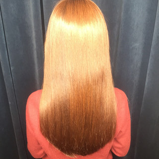 縮毛矯正 ロング ナチュラル 渋谷系 ヘアスタイルや髪型の写真・画像