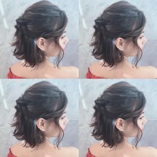 AVEDA ボブ ゆるふわ ナチュラル ヘアスタイルや髪型の写真・画像