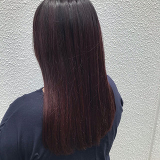 ボブ グラデーションカラー ナチュラル 暗色カラー ヘアスタイルや髪型の写真・画像