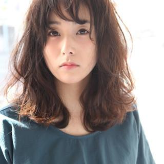 大人かわいい ミディアム 暗髪 ピュア ヘアスタイルや髪型の写真・画像